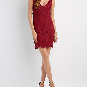 Crochet Open Back Bodycon Dress
