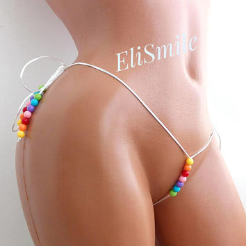POLE DANCE BIKINI Extreme Micro G-string Bikini Itty Bitty Fetish Hawaii Pole Dance