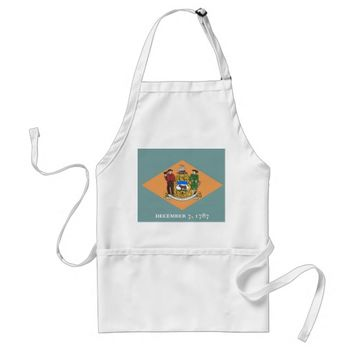 Apron with Flag of Delaware, U.S.A.
