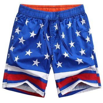 Hawaiian Style Holiday Fashion Quickly Dry Icy Breathable Beach Shorts for Men