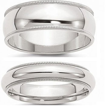 Sterling Silver Couple Ring Set