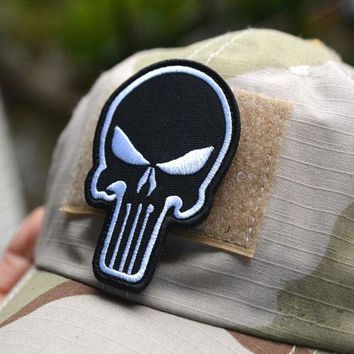 Exclusive 3d Embroidery Punisher  Armband Morale Color Double-Sided Patch Affixed Military Patches Badges Free Delivery