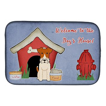 Dog House Collection Wire Fox Terrier Dish Drying Mat BB2855DDM