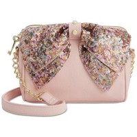 Betsey Johnson Macy's Exclusive Sequin Bow Crossbody | macys.com
