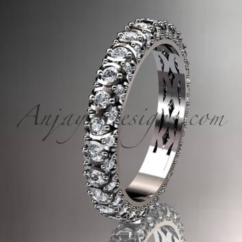 platinum diamond wedding ring, engagement ring, wedding band, eternity ring ADLR123