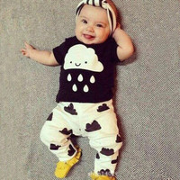 Short Sleeve Panda Kids Boys Girls Baby Clothing Toddler Bodysuits Products For Children _ 4728