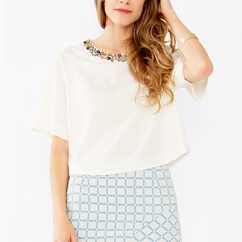 Folk Jewel Crop Top