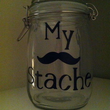 My Stache change jar