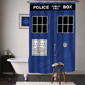 police public call box special custom shower curtains available size