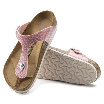 Sale Birkenstock Gizeh Birko Flor Magic Snake Rose 1009121 Sandals