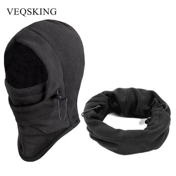 Winter Windproof Hiking Caps, Thermal Fleece Balaclava Face Mask, Ski Bike Motorcycle Neck Warmer Helmet
