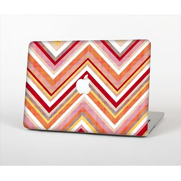 The Vibrant Red & Yellow Sharp Layered Chevron Pattern Skin Set for the Apple MacBook Air 13""
