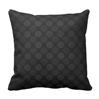 Retro faded black circles pattern cushion