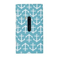 Nautical Anchor Embossed Hard Case for Nokia Lumia 920 (AT&T) - Includes DandyCase Keychain Screen Cleaner [Retail Packaging by DandyCase]