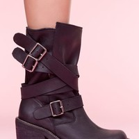 Jeffrey Campbell Deanne Strapped Boot - Black