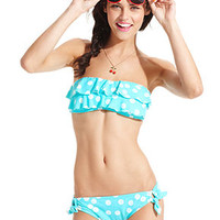 Bikini Lab Swimsuit, Dot-Print Side-Tie Brief Bottom