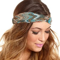 Twisted Geo Tribal Headwrap: Charlotte Russe