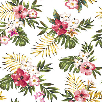 Tropical Flowers Two Removable Wallpaper