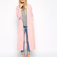 ASOS Crepe Duster Jacket in Maxi Length