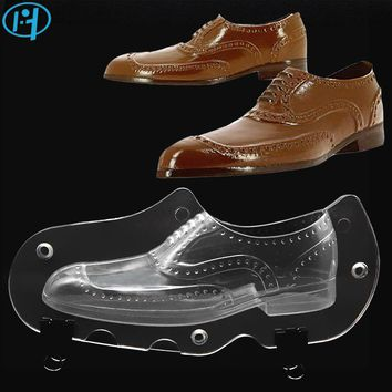 Men Shoe Plastic Chocolate Mold