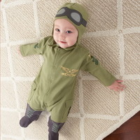 "Opentip.com: Baby Aspen BA16010PL ""Big Dreamzzz"" Baby Pilot Two-Piece Layette Set"
