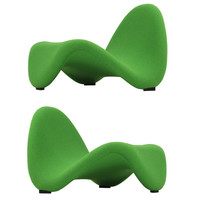 Pair of Pierre Paulin Tongue Chairs