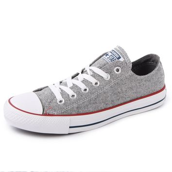 Converse Chuck Taylor All Star Wool Ox 540339F Womens Laced Textile Trainers Grey - 3