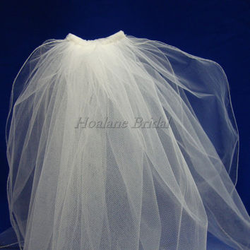 Flower Girl Veils, two layer veil, Communion veils