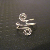 "Non Pierced Sterling Silver ""Twisted Spiral"" Ear Cuff"