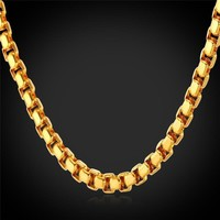 """Necklaces With """"18K"""" Gold Stamp Yellow Gold Plated lace 5MM 55CM 22''"""