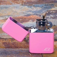 Pink Lighter, Corner Engraving