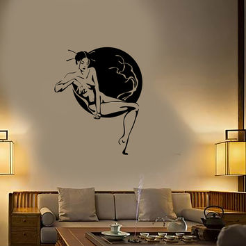 Wall Stickers Vinyl Decal Oriental Japan Geisha Hot Sexy Girl Naked Spa (ig1731)