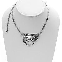 Belle Nouveau Sterling Silver Statement Necklace