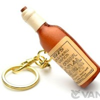 Wine Bottle Leather Unique Goods KH Keychain VANCA CRAFT-Collectible keyring Made in Japan