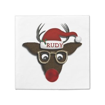 Rudolph Christmas PARTY PAPER NAPKINS