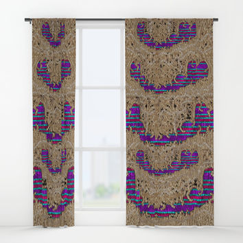 Pearl lace and smiles in peacock style Window Curtains by Pepita Selles