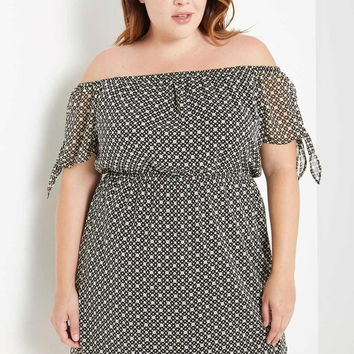 Pose Off the Shoulder Dress Plus Size