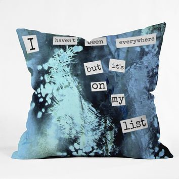 Deb Haugen My List Throw Pillow
