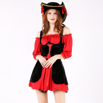 Games Halloween Cosplay Custome Women's Fashion Pirate Hats Uniform [9208477636]