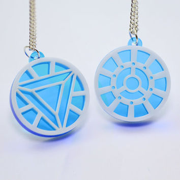 Iron Man Arc Reactor Friendship Necklaces  Laser Cut by LicketyCut