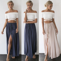 USXN Fashion Women's Summer Boho Casual Cocktail Long Maxi Party Beach Dress