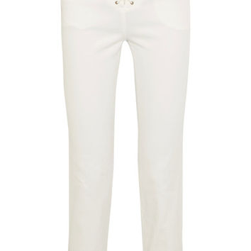 Chloé - Lace-up high-rise slim-leg jeans