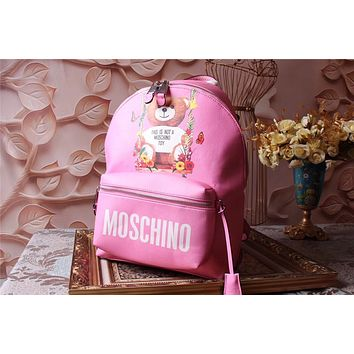 MOSCHINO WOMEN'S NEW STYLE CANVAS CAPSULE BACKPACK BAG