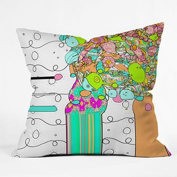 Ingrid Padilla Bouquet 1 Throw Pillow