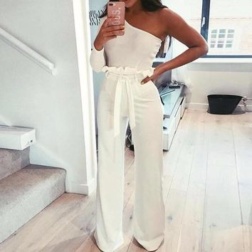 High-Waisted Fit & Flare Trousers