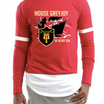 House Greyjoy we do not sow men Colorblock Longsleeve shirt