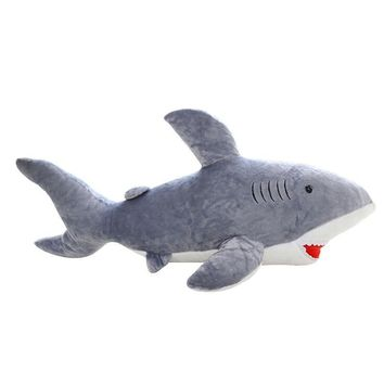 Giant Plush Shark Whale Stuffed Fish Ocean Kawaii Toys