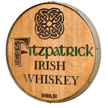 Celtic Knot Personalized Barrel Head Wall Plaque