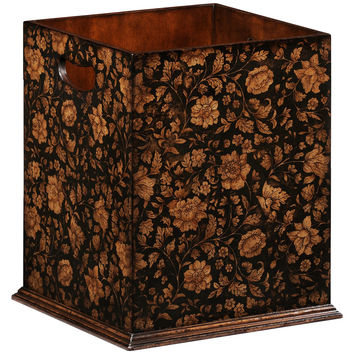 Chinoiserie Waste Bin | Black