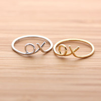 girlsluv.it - XOXO(hug & kisses) ring, 2 colors